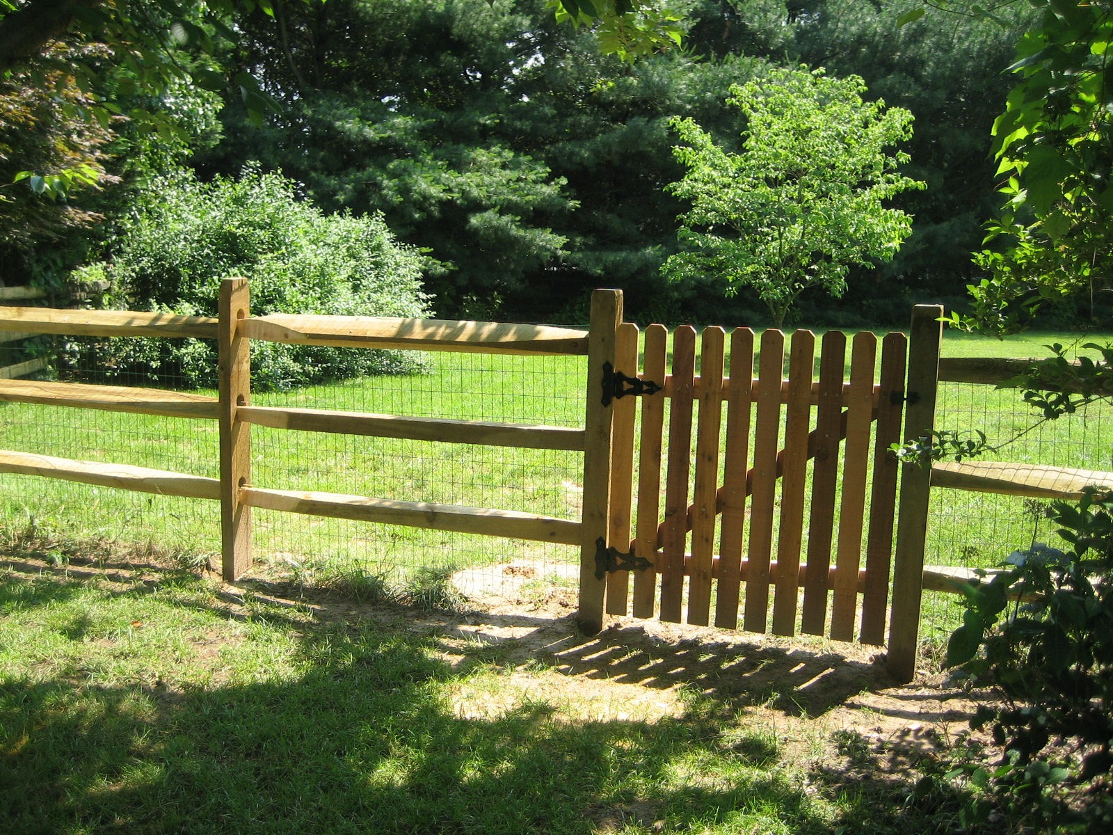 114_3-split-rail-pressure-treated-wood-with-4ft-walk-gate Wood - Forrest Fencing