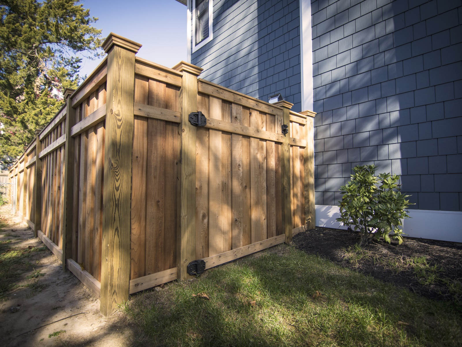 183_cedar-privacy-fence-with-optional-cap Wood - Forrest Fencing